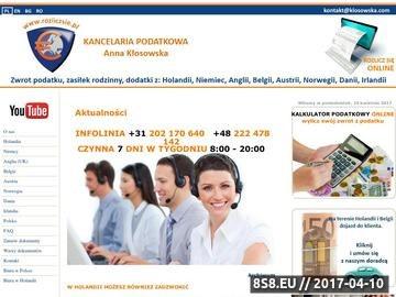 Zrzut strony Kancelaria podatkowa mgr Anna Kłosowska