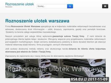 Zrzut strony Roznoszenie ulotek w Warszawie