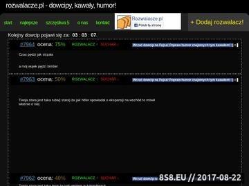 Zrzut strony Rozwalacze.pl - dowcipy, kawały, humor - rozwalające żarty