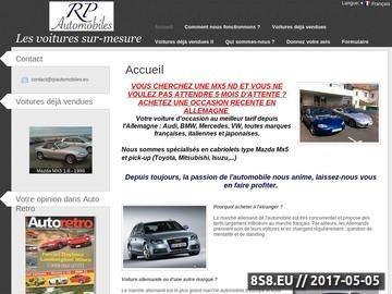 Zrzut strony Votre voiture d'occasion au meilleur tarif depuis l'Europe
