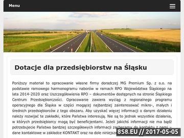 Zrzut strony RPO WSL - dotacje dla firm Śląsk