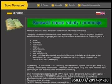 Zrzut strony Tłumacz języka angielskiego Wrocław