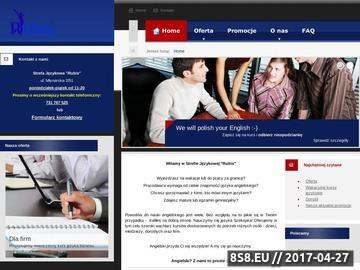 Zrzut strony Rubis - kursy i korepetycje z języka angielskiego w Legnicy