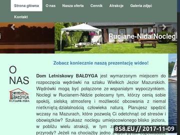 Zrzut strony Dom Letniskowy Bałdyga