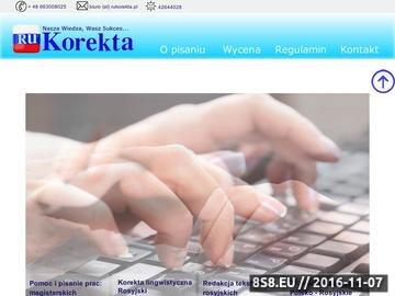 Zrzut strony Pomoc w pisaniu prac z filologii rosyjskiej