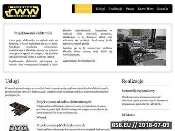 Zrzut strony Projektowanie elektroniki, montaż smd / tht