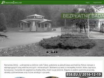 Zrzut strony Turystyka i rekreacja w Rymanowie Zdroju