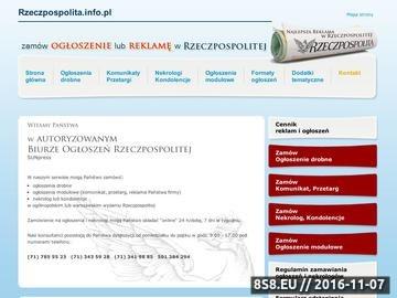 Zrzut strony Rzeczpospolita - ogłoszenia