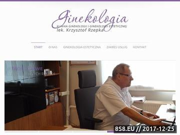 Zrzut strony Lek. Krzysztof Rzepka - MonaLisa Touch Zielona Góra
