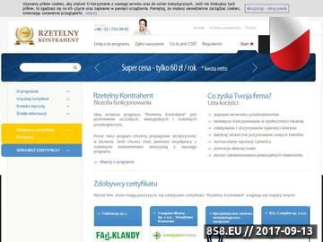 Zrzut strony Certyfikat rzetelności