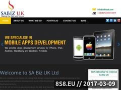 Thumbnail of SA Biz UK Ltd Website