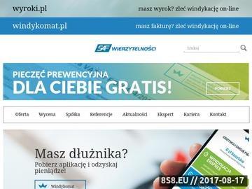 Zrzut strony SAF Wierzytelności - windykacja długów