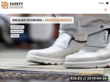 Zrzut strony Safety - innowacyje bezpieczeństwo