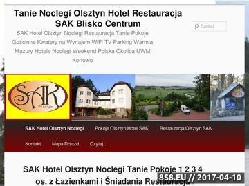 Zrzut strony Mazury Hotel Olsztyn Noclegi Restauracja SAK