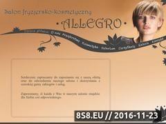 Miniaturka domeny www.salon-allegro.webuda.com