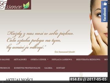 Zrzut strony Gabinet kosmetyczny we Wrocławiu