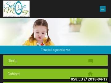 Zrzut strony Gabinet Logopedyczny Sylwia Makuchowska-Hankus