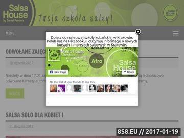 Zrzut strony Salsa House Kraków