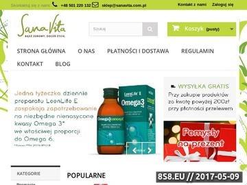 Zrzut strony Naturalne suplementy diety i kosmetyki - SanaVita - Bądź zdrowy. Doceń życie.