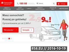 Miniaturka Bank - finanse, kredyty oraz doradztwo (www.santanderconsumer.pl)