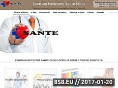 Miniaturka domeny www.sante-cm.pl