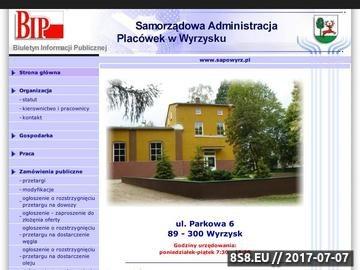Zrzut strony BIP SAPO informacje o przetargach