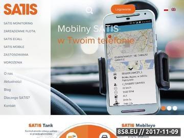 Zrzut strony Zabezpieczenie GPS Satis