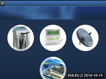 Zrzut strony Alarmy, telewizja przemysłowa, telewizja satelitarna oraz anteny