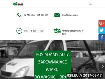 Zrzut strony SAWO Recykling Sp. j.