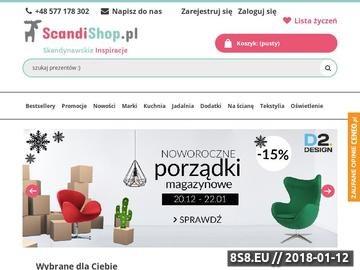 Zrzut strony ScandiShop.pl - Skandynawskie Inspiracje
