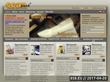 Zrzut strony Maszyny pakujące taśmą polipropylenową SCANPACK