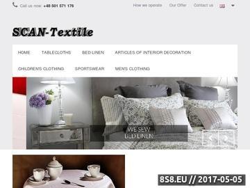 Zrzut strony SCAN-Textile - bielizna pościelowa