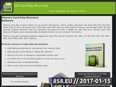 Thumbnail of Recovery of SD card Website