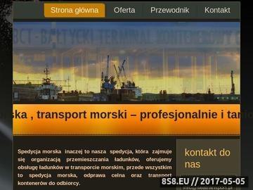 Zrzut strony Transport morski w Gdynia via HELENA-TS