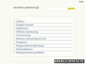 Zrzut strony Audyt bezpieczeństwa IT - Security Partners