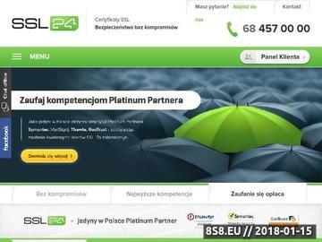 Zrzut strony Certyfikat SSL