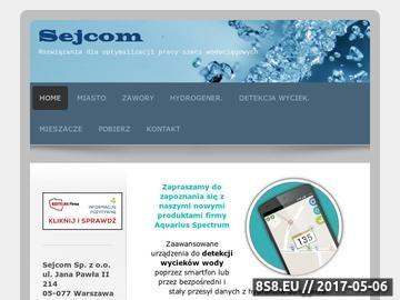 Zrzut strony SEJCOM filtry do wody