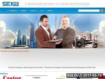 Zrzut strony Kontrola dostępu Rejestracja czasu pracy SELKOD sp. z o.o.