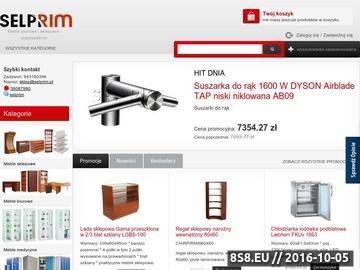 Zrzut strony Selprim.pl - Profesjonalne wyposażenie sklepów, gastronomii magazynów, Koszalin