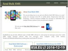 Software for bulk SMS Website
