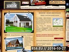 Miniaturka domeny www.sendom-domydrewniane.pl