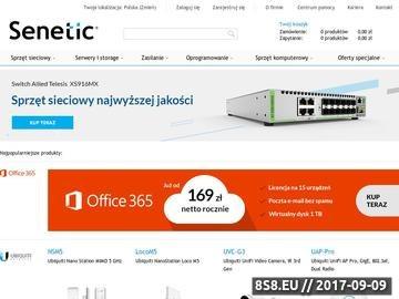 Zrzut strony Senetic - sprzedawca oprogramowania Microsoft