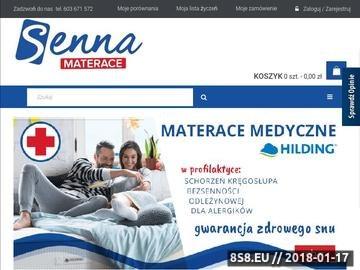 Zrzut strony Materace online