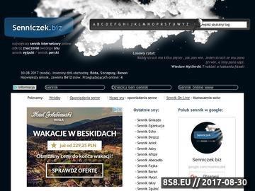 Zrzut strony SENNIK|Sennik
