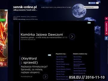 Zrzut strony Sennik