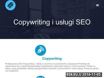 Zrzut strony Copywriting, audyty SEO, tworzenie stron - usługi SEO