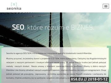 Zrzut strony Seonika - SEO, które rozumie biznes