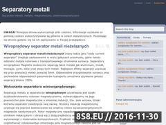 Miniaturka domeny separatory-metali.pl