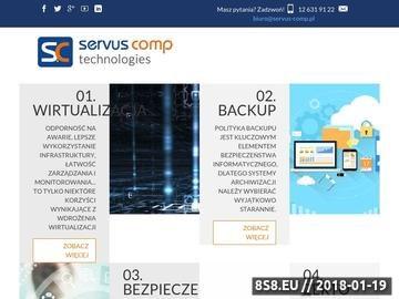 Zrzut strony Usługi informatyczne