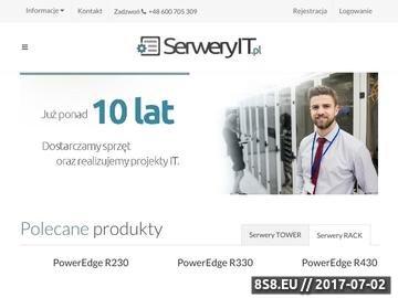 Zrzut strony Rozwiązania IT dla biznesu